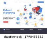 referral marketing isometric...