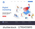 digital marketing isometric...