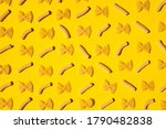 Uncooked Curly Pasta Pattern O...