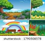 four different nature scene of... | Shutterstock .eps vector #1790508578