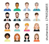 people icons set avatar profile ... | Shutterstock .eps vector #1790528855