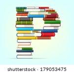 letter p. stacks of multi... | Shutterstock .eps vector #179053475