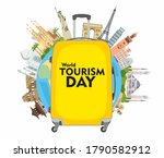 world tourism day. the... | Shutterstock .eps vector #1790582912