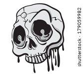 weird looking skull cartoon...   Shutterstock .eps vector #179059982