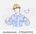 engineer women is looking... | Shutterstock .eps vector #1790605592