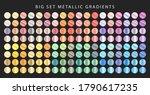 big set of metallic gradients.... | Shutterstock .eps vector #1790617235