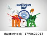 indian happy independence day... | Shutterstock .eps vector #1790621015