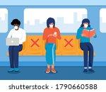 safe travels under covid 19 ... | Shutterstock .eps vector #1790660588