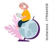 teenager girl or student... | Shutterstock .eps vector #1790664428