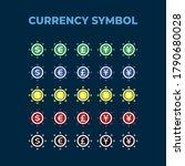 vector design set of currency... | Shutterstock .eps vector #1790680028