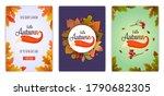 set of autumn sale poster... | Shutterstock .eps vector #1790682305