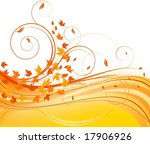 autumn floral background | Shutterstock .eps vector #17906926
