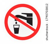 prohibition sign no use water... | Shutterstock .eps vector #1790703812