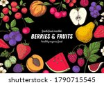 berries and fruits drawing... | Shutterstock .eps vector #1790715545