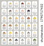 set of stickers and labels of... | Shutterstock .eps vector #1790717432