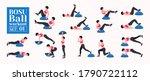 bosu ball   balance training... | Shutterstock .eps vector #1790722112
