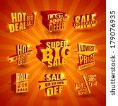 promote sale 3d offer... | Shutterstock .eps vector #179076935