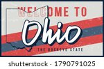 welcome to ohio vintage rusty... | Shutterstock .eps vector #1790791025