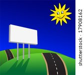 advertising billboard on road... | Shutterstock .eps vector #17908162