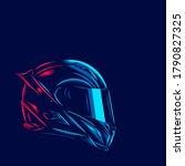 helmet fullface line. pop art...   Shutterstock .eps vector #1790827325