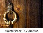 Old Metal Door Handle Knocker...