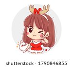 Character Of Cute Girl Wearing...