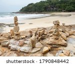 Stone Stack On Beach In Samed ...