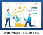 young entrepreneurs create a... | Shutterstock .eps vector #1790851142