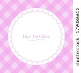 a round lace frame on a soft...   Shutterstock . vector #179086652