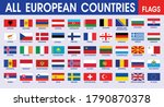 european flags all countries... | Shutterstock .eps vector #1790870378