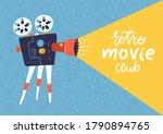 cool retro movie projector... | Shutterstock .eps vector #1790894765