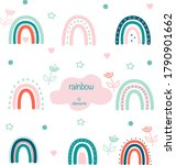 a hand drawn colored rainbow....   Shutterstock .eps vector #1790901662