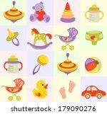 seamless baby background | Shutterstock . vector #179090276