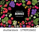 berries drawing collection.... | Shutterstock .eps vector #1790910602