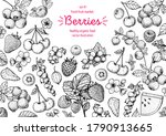 berries drawing collection.... | Shutterstock .eps vector #1790913665