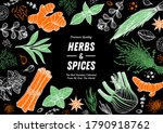 herbs and spices hand drawn... | Shutterstock .eps vector #1790918762