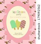 ice cream party | Shutterstock .eps vector #179092562