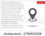 map pointer flat icon. vector ... | Shutterstock .eps vector #1790935328