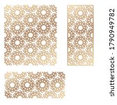 decal. laser cutting panel.... | Shutterstock .eps vector #1790949782