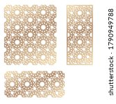 decal. laser cutting panel.... | Shutterstock .eps vector #1790949788