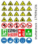 safety and warning signs | Shutterstock .eps vector #179096156