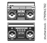 Set Of Illustrations Of Boombox ...