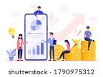 increasing income and... | Shutterstock .eps vector #1790975312