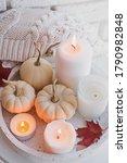 Autumn Still Life With White...