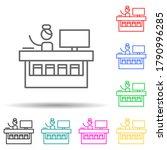 information  desk multi color...