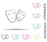 theatre mask multi color set...