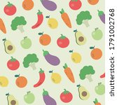 Pattern Fruits And Vegetables...