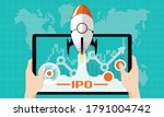 ipo or initial public offering... | Shutterstock .eps vector #1791004742