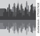 City Skyline Background Vector...