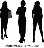 girls silhouettes | Shutterstock .eps vector #17910250